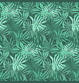 green pattern with mess of fern tropical leaves vector image vector image