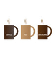 hot drink mugs vector image