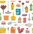 House cleaning tools seamless pattern vector image vector image