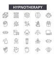 hypnotherapy line icons signs set vector image vector image