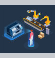industrial augmented reality isometric vector image vector image