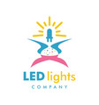 led light logo design template vector image vector image