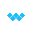 letter w logo alphabet mosaic icon set vector image