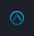 luxury letter a emblem logo blue logo design vector image