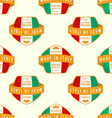 Made in Italy banner seamless pattern