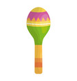 maraca musical instrument icon vector image