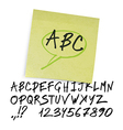marker alphabet uppercase vector image vector image