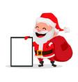 merry christmas funny santa claus vector image vector image