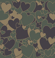 Military Camouflage Love vector image vector image