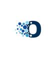 o letter pixel logo icon design vector image vector image