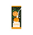 orange milk logo original design label for vector image vector image