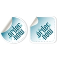 Order now stickers label set vector image
