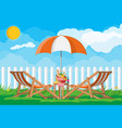 picnic in nature vector image