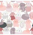 rabbit bunny cute cartoon pattern vector image vector image