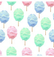 realistic detailed 3d color cotton candy seamless vector image vector image