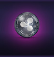 ripple metal coin vector image vector image