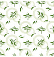 seamless pattern with green sprigs vector image vector image