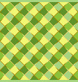 seamless pattern with squares in yellow and green vector image