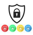 security shield or virus shield lock line art vector image