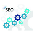 seo infographics design timeline concept include vector image vector image