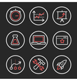 Set of engine optimization icons vector image vector image