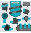 set premium quality labels and stickers vector image vector image