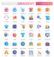 set trendy flat gradient e-commerce vector image vector image