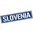 slovenia blue square stamp vector image vector image