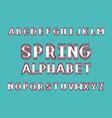 spring bold font alphabet vector image