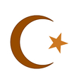 Star and crescent symbol icon vector image vector image