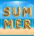 summer typographic design summertime season vector image