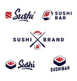 sushi logos templates icon set vector image