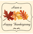 thanksgiving graphic with overlapping gradient lea vector image