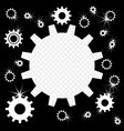 the gears are shiny silver overlay vector image vector image