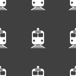 train icon sign Seamless pattern on a gray vector image vector image
