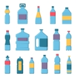 Water bottles vector image