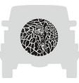 wheel cover - giraffe vector image vector image