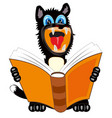 dog with book vector image
