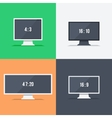 Responsive web design on different monitors vector image