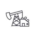 oil pump jack line icon sign vector image