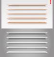 100 shelves long vector image vector image