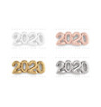 2020 3d lettering realistic gold numbers isolated vector image vector image