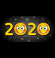 2020 text template for happy new year vector image