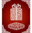 Abstract Christmas Gift vector image vector image