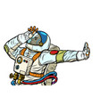 astronaut in a spacesuit gesture denial shame vector image vector image
