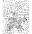 baby bear in the zentangle style vector image vector image