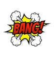 bang comic text bubble isolated color icon vector image vector image