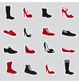 boots and shoes stickers eps10 vector image vector image