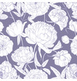 botanical seamless pattern with tender peony vector image