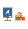 Boy sitting at a Desk vector image vector image